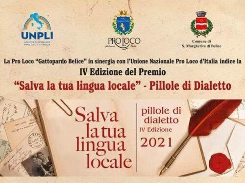"""Stasera a Santa Margherita del Belice la IV edizione del Premio """"Salva la tua Lingua Locale"""""""