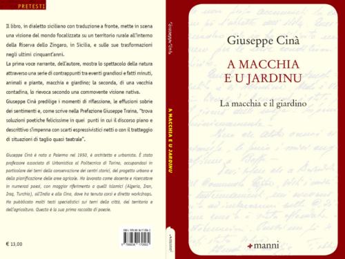 """Il 12 agosto a Scopello si presenta il libro di Giuseppe Cinà """"A macchia e u jardinu"""": Poesie in dialetto siciliano"""